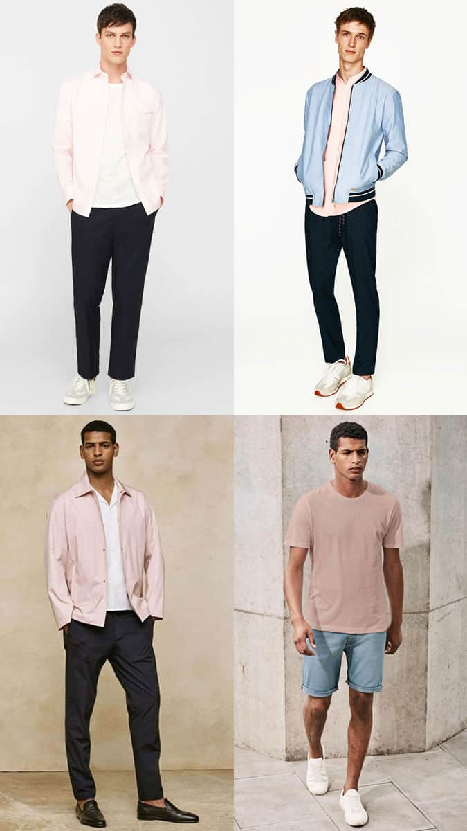 how men can wear pink