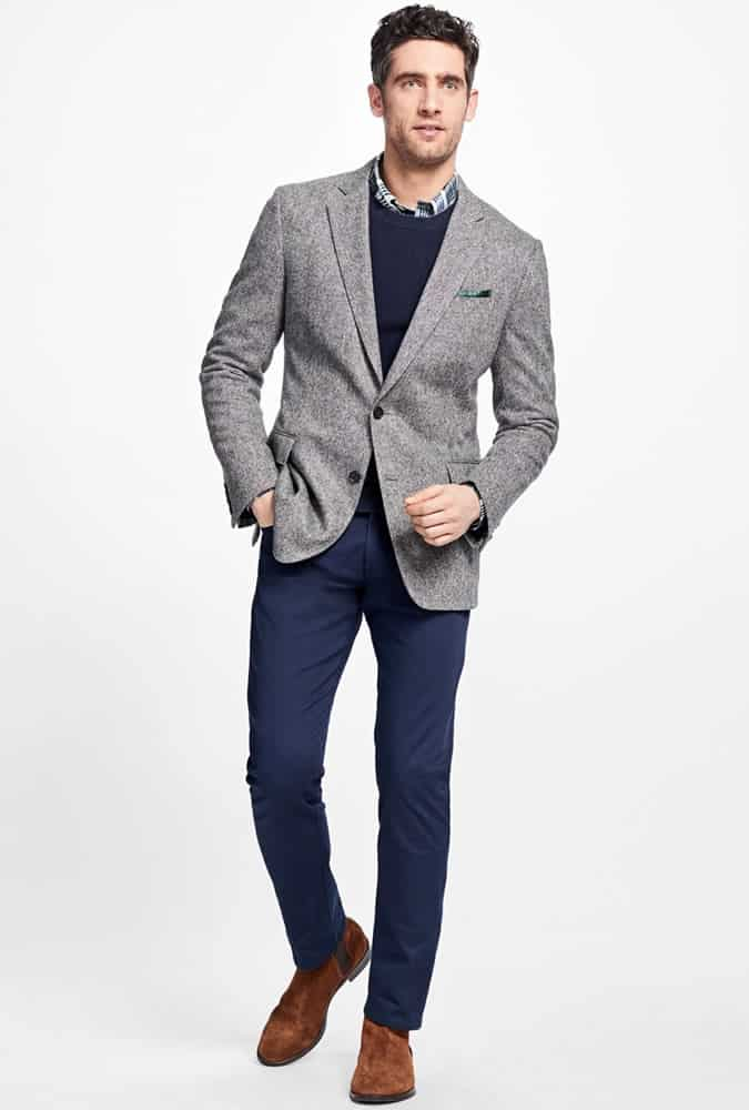 Grey Jacket + Navy Trousers. Brooks Brothers 9cece2f2d
