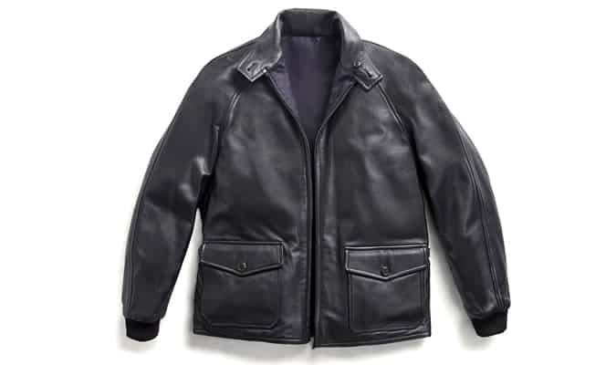 Grenfell reversible leather jacket