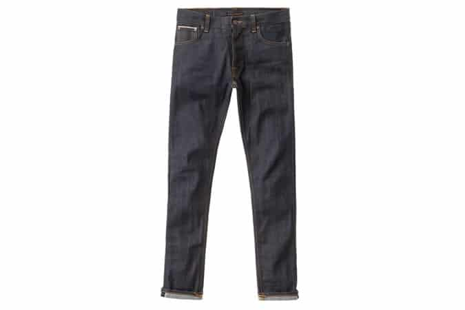 Nudie Jeans Tilted Tor Dry Flat Selvedge Denim Jeans