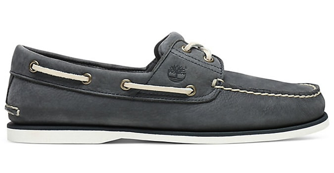 Timberland Black Men's Classic 2 eye Boat Shoes for men