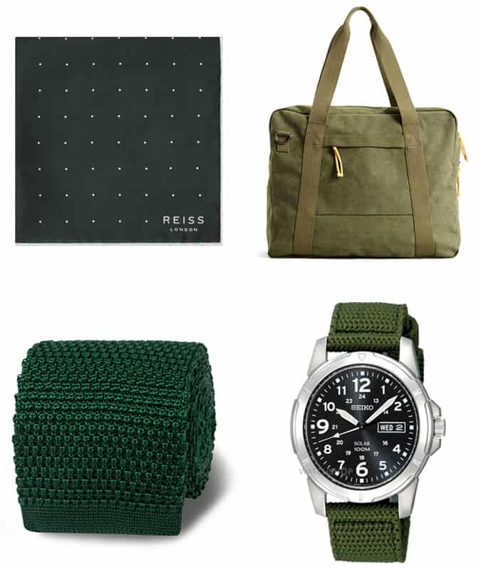 the best green accessories for men