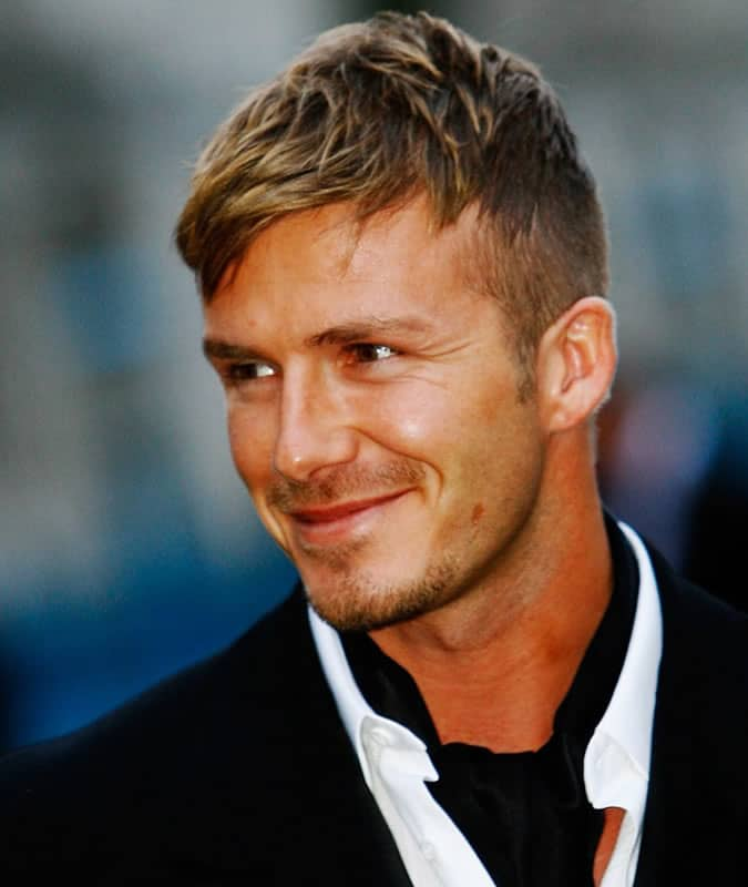 David Beckham's Best Hair Styles - Textured Fringe Haircut