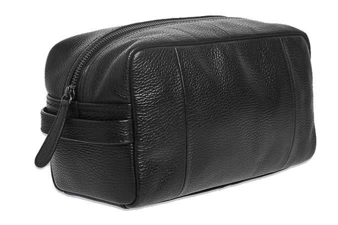 M&S Pebble Grain Leather Washbag