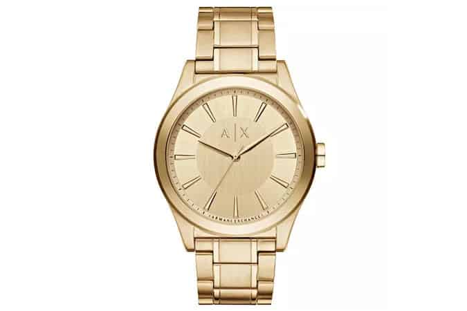 Armani Exchange Men's Gold-Plated Watch