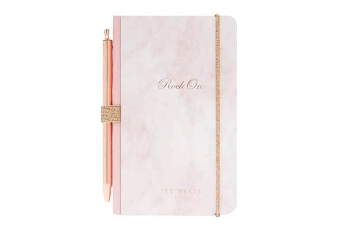 Ted Baker Rose Quartz notebook and pen