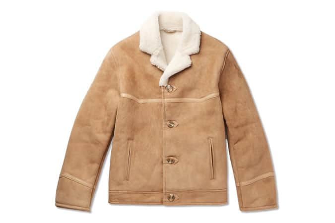 Kingsman Tequila's Statesman Shearling Bomber Jacket