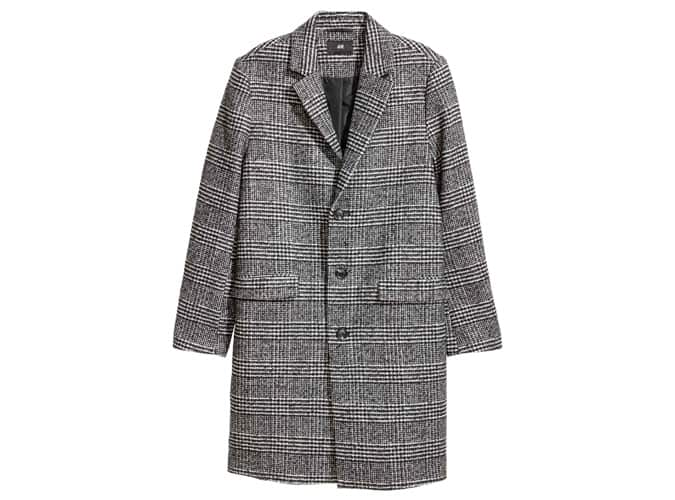 H&M Check Wool-Blend Coat
