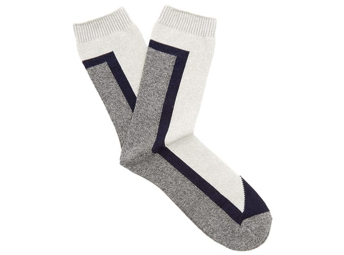 Necessary Anywhere Intarsia-knit Cotton-Blend Socks