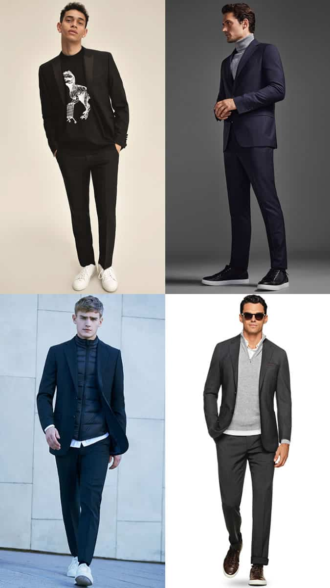 How To Wear Trainers With A Suit