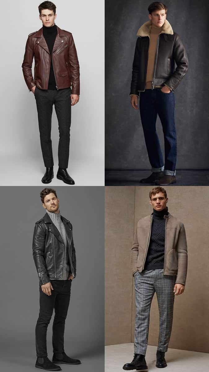 How to wear a roll neck with a leather jacket