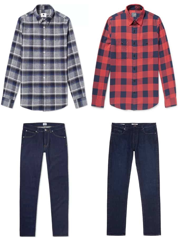 The Best Flannel Shirts And Dark Denim Jeans