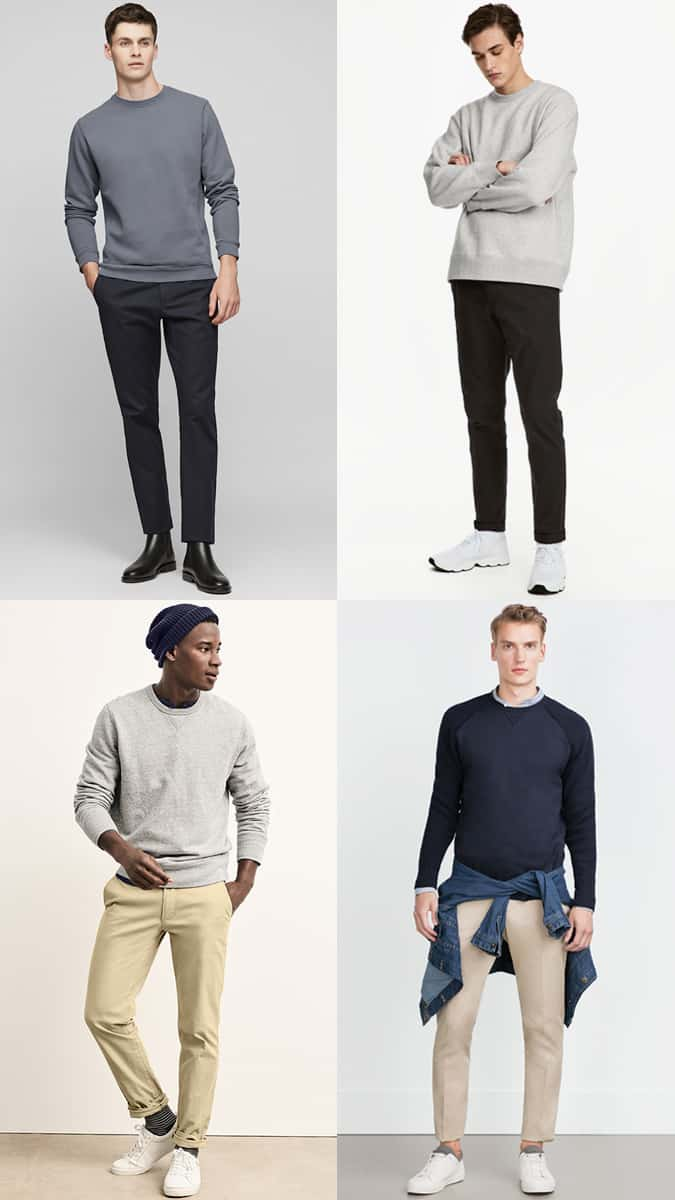 How To Wear A Sweatshirt And Chinos