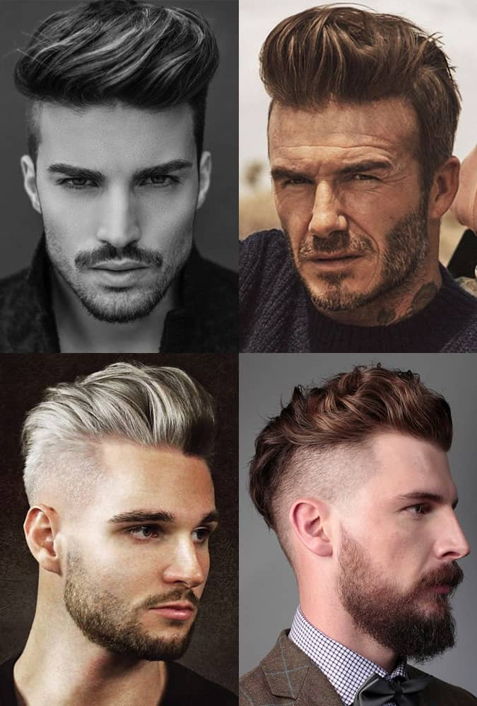Men's Pompadour with Undercut hairstyles