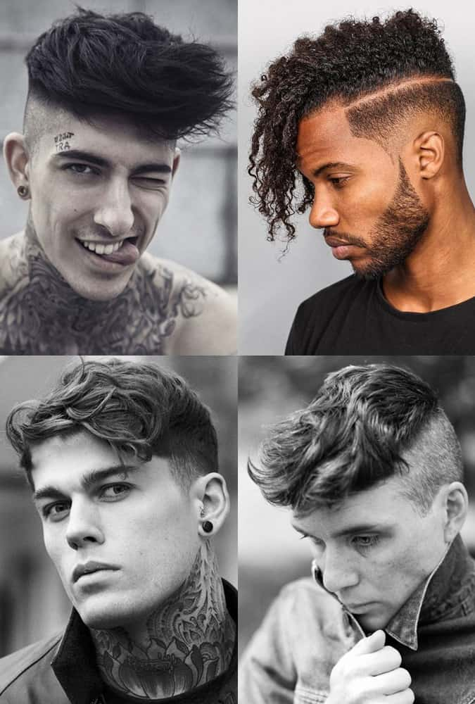 Men's Disconnected Undercut Hairstyles with textured length on top