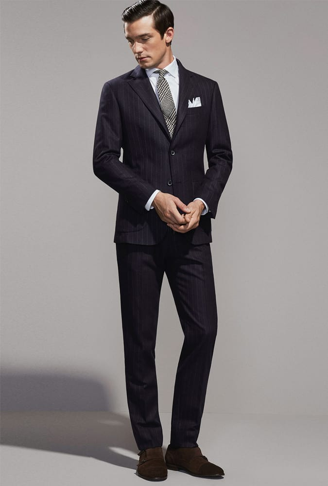 How to wear a pinstripe suit in a modern way