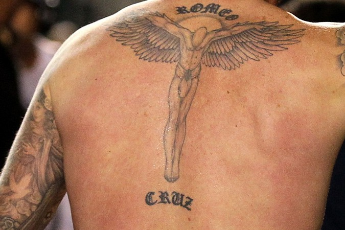 David Beckham Guardian Angel Tattoo