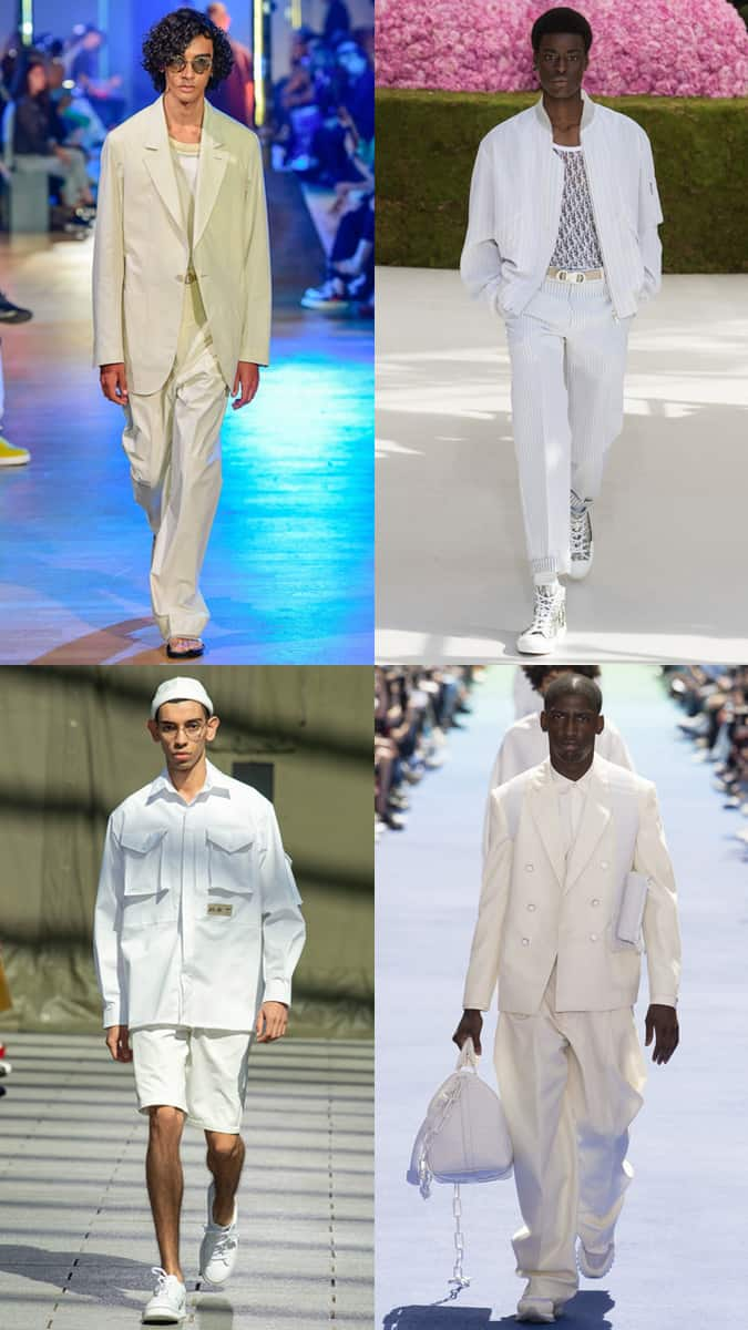 White And Cream At Men's Fashion Week SS19