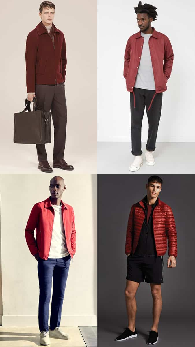How To Wear A Red Jacket