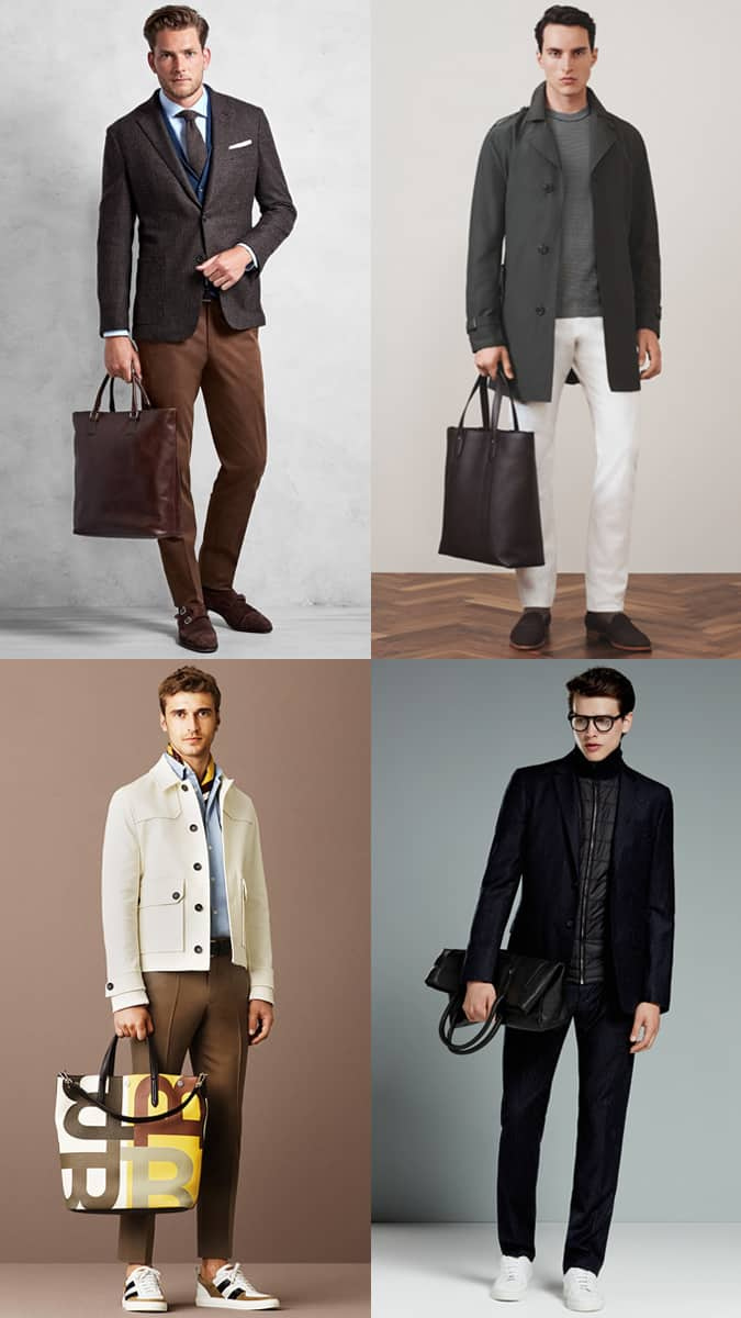 How To Wear A Tote Bag Men