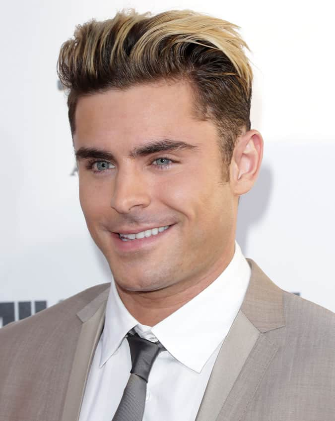 Zac Efron Platinum Blonde