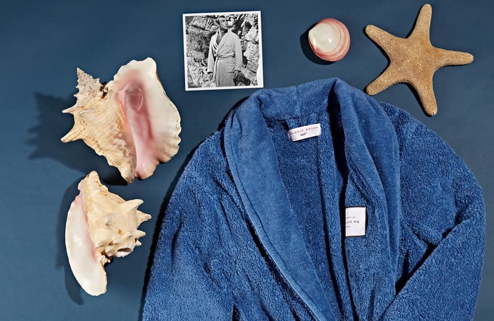DR NO TOWELLING ROBE 007 Mid Blue Towelling Robe