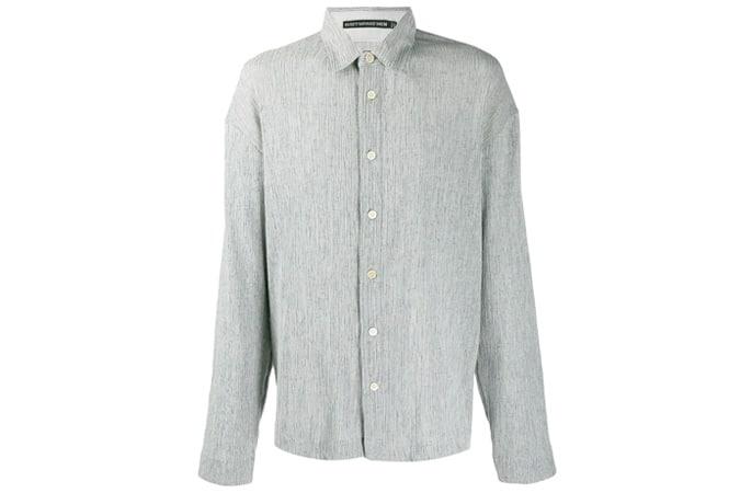 ISSEY MIYAKE MEN ribbed oversized button shirt