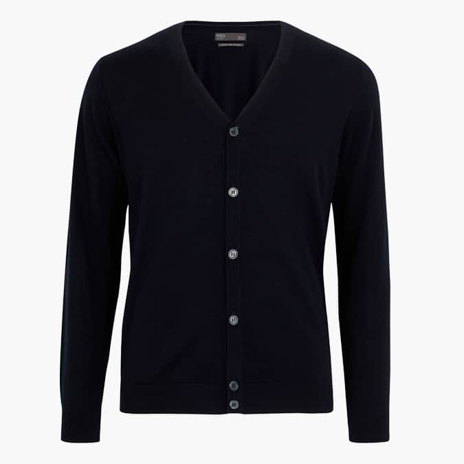 M&S COLLECTION Pure Merino Wool V Neck Cardigan