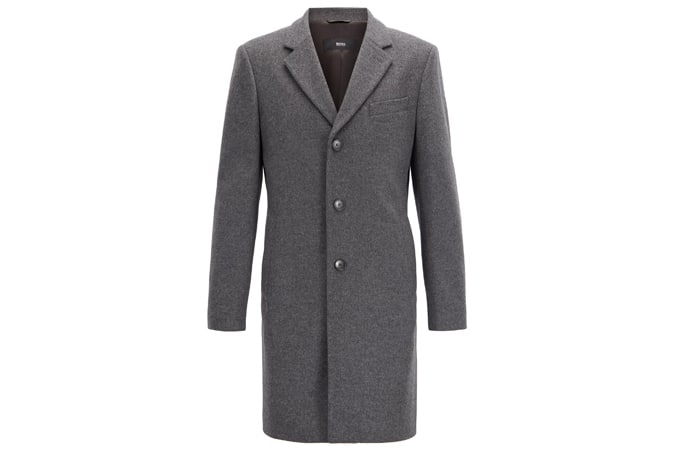hugo boss Formal coat in wool and cashmere with notch lapels