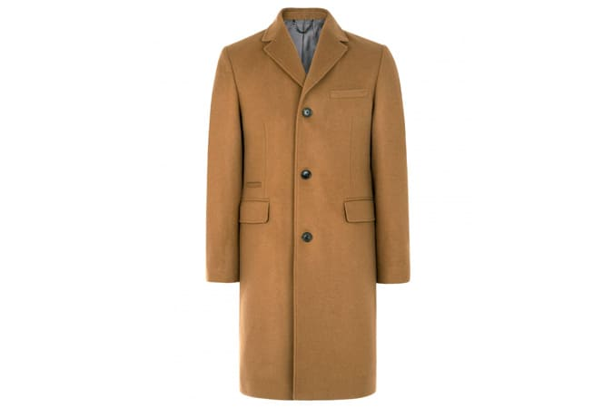 jaeger SINGLE BREASTED WOOL CASHMERE OVERCOAT