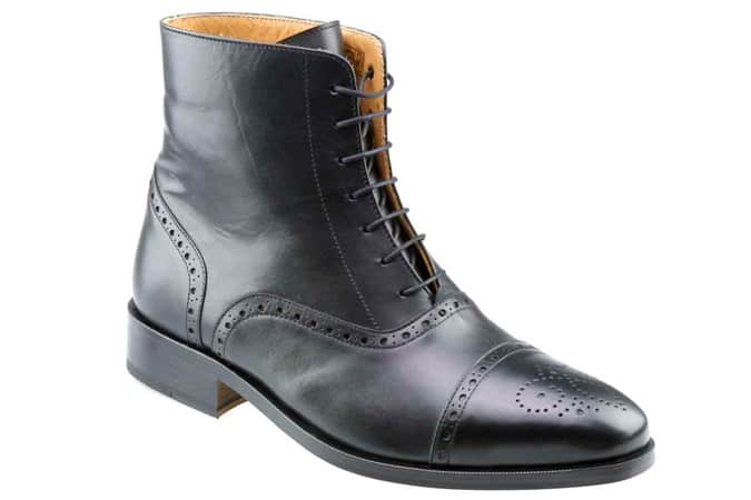 Mens Balmoral Boot Black Calf