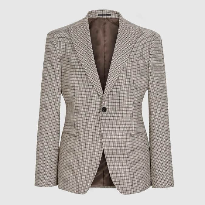 BUTLER MICRO-CHECK SLIM FIT BLAZER
