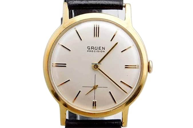 Gruen Precision Vintage 1960's James Bond 007 Pre-Owned Mens Watch